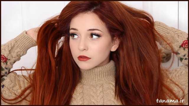 رنگ موی پاییزی