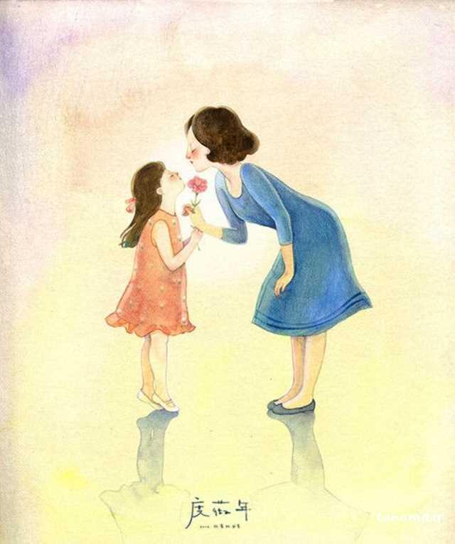 پروفایل مادر دختر و پسر