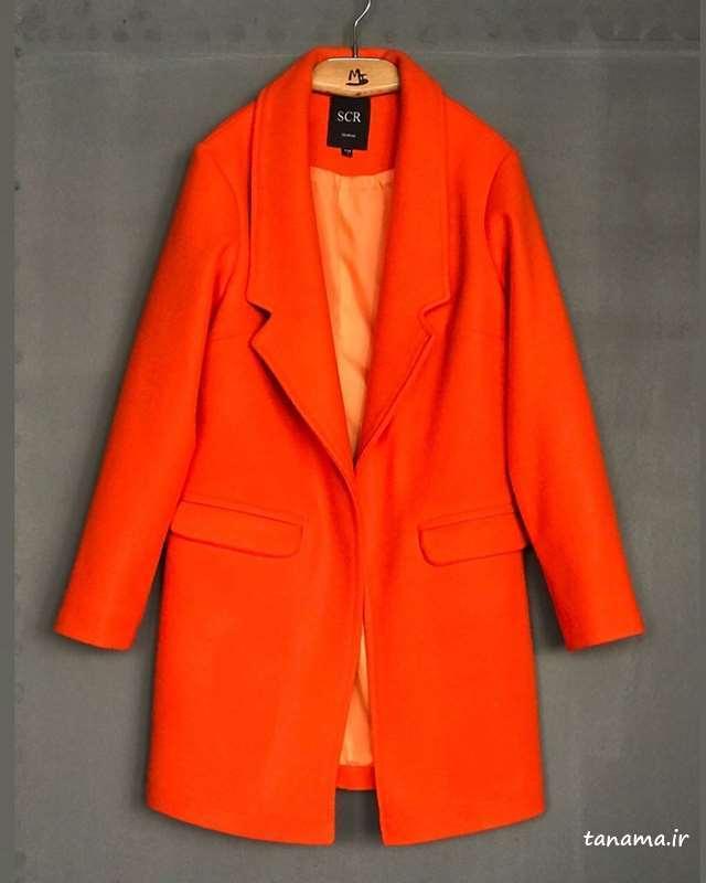 مدل پالتو نارنجی رنگ
