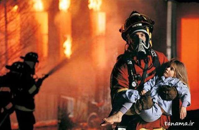 عکس زیبا برای روز آتش نشانی