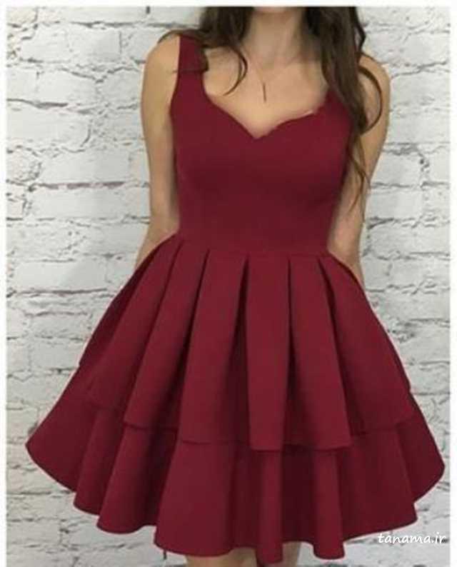 لباس مجلسی کوتاه و دخترانه