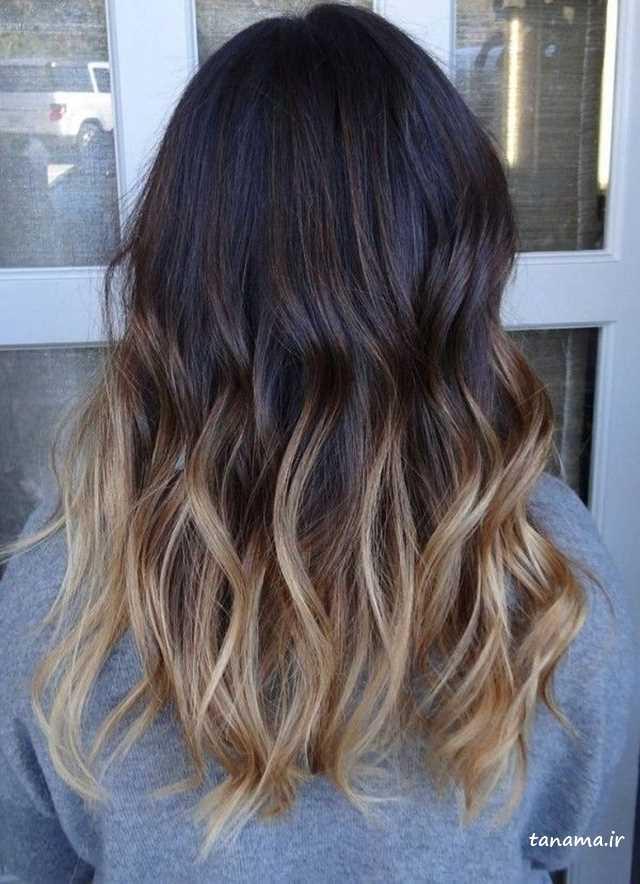 مدل رنگ موی طبیعی